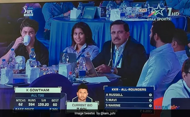 Shah Rukh Khan's Son, Juhi Chawla's Daughter Spotted At IPL Auction