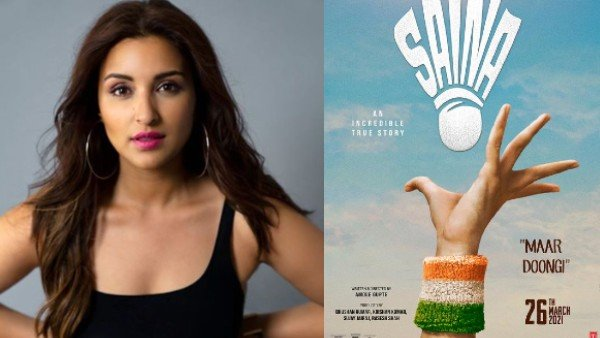 Parineeti Chopra's 'Saina' Poster is out – Badminton Fans confused with the Tennis Serve!