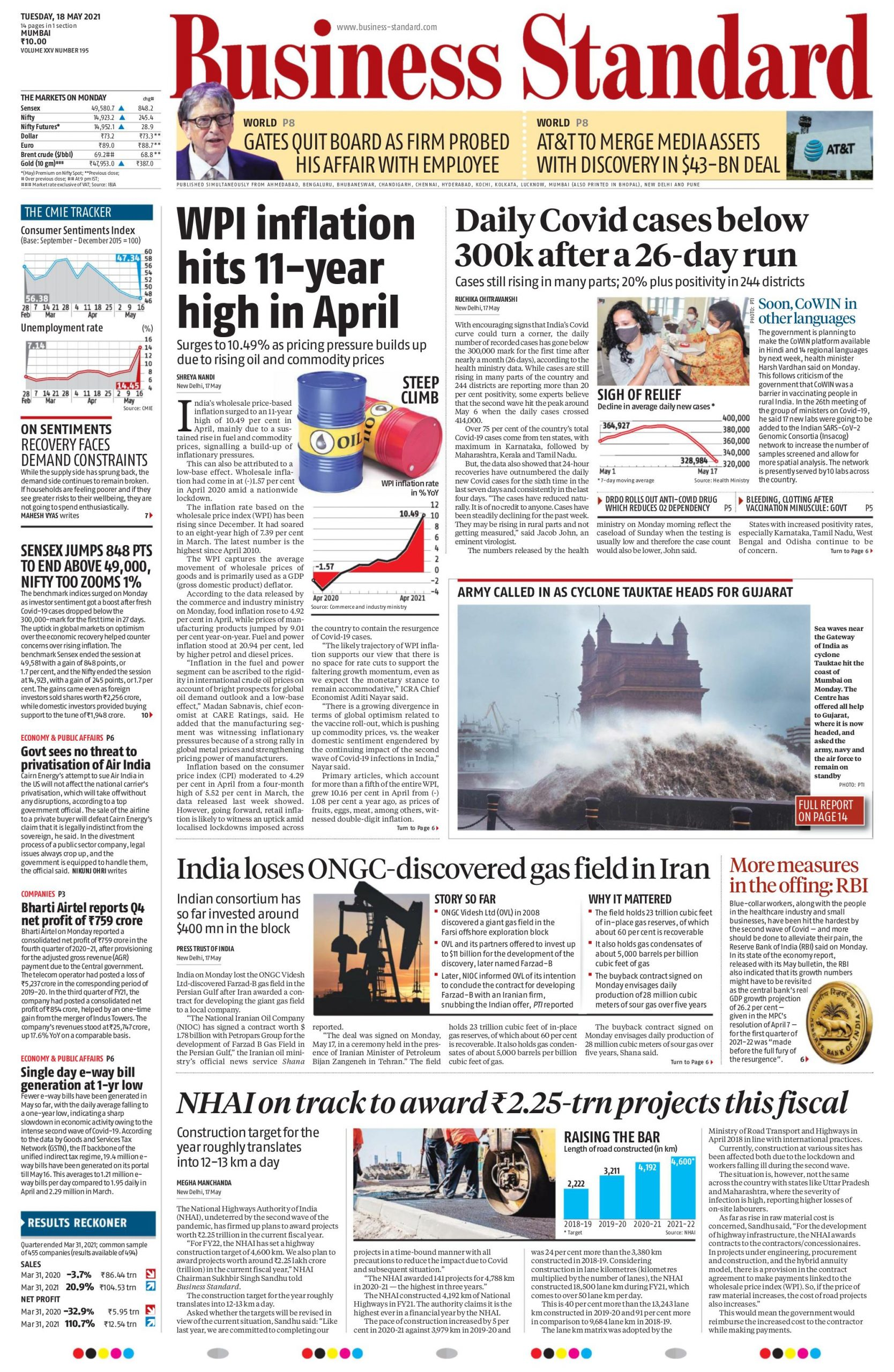 Business standard 18th May 2021