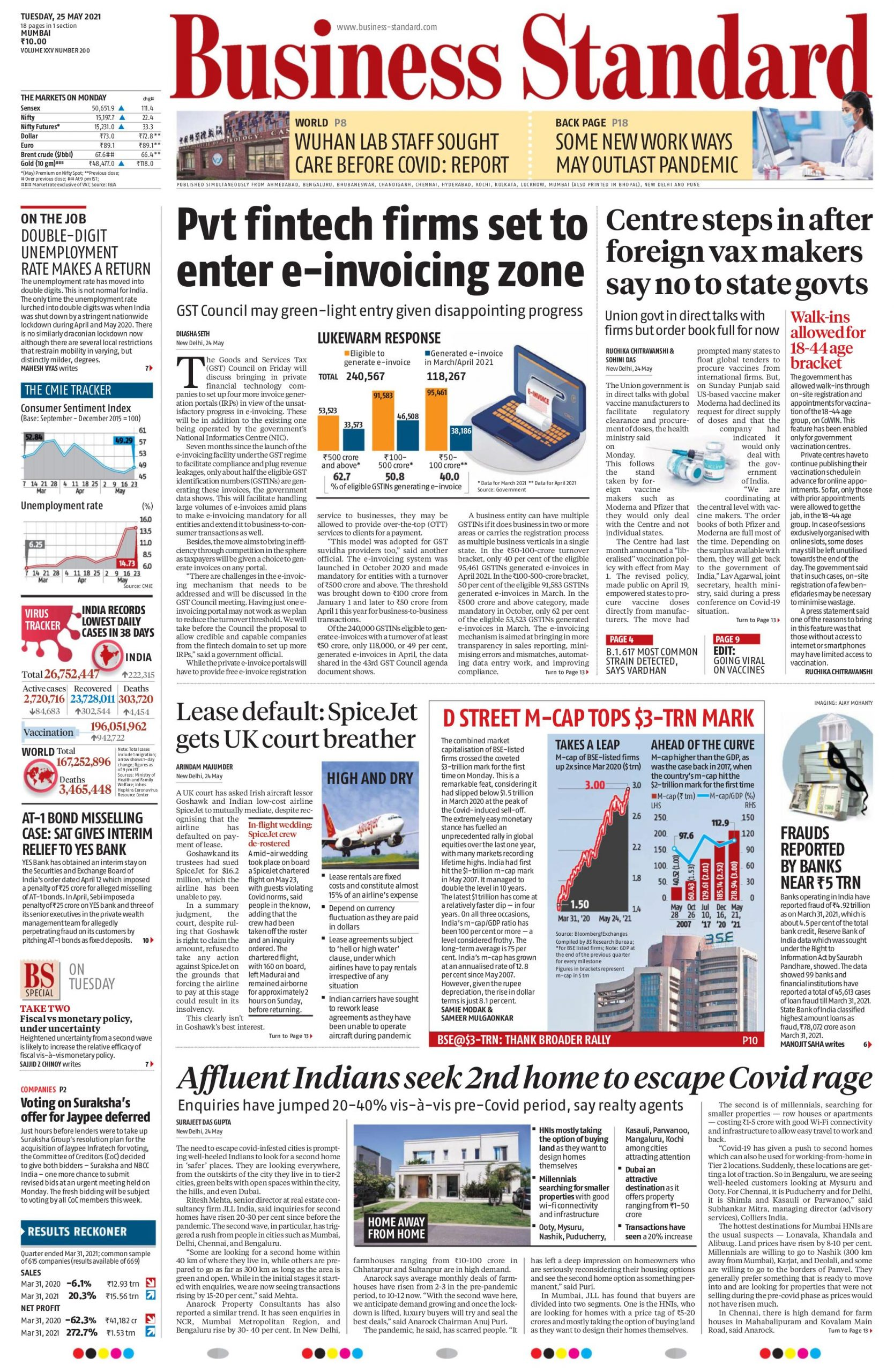 Business standard 25th May 2021