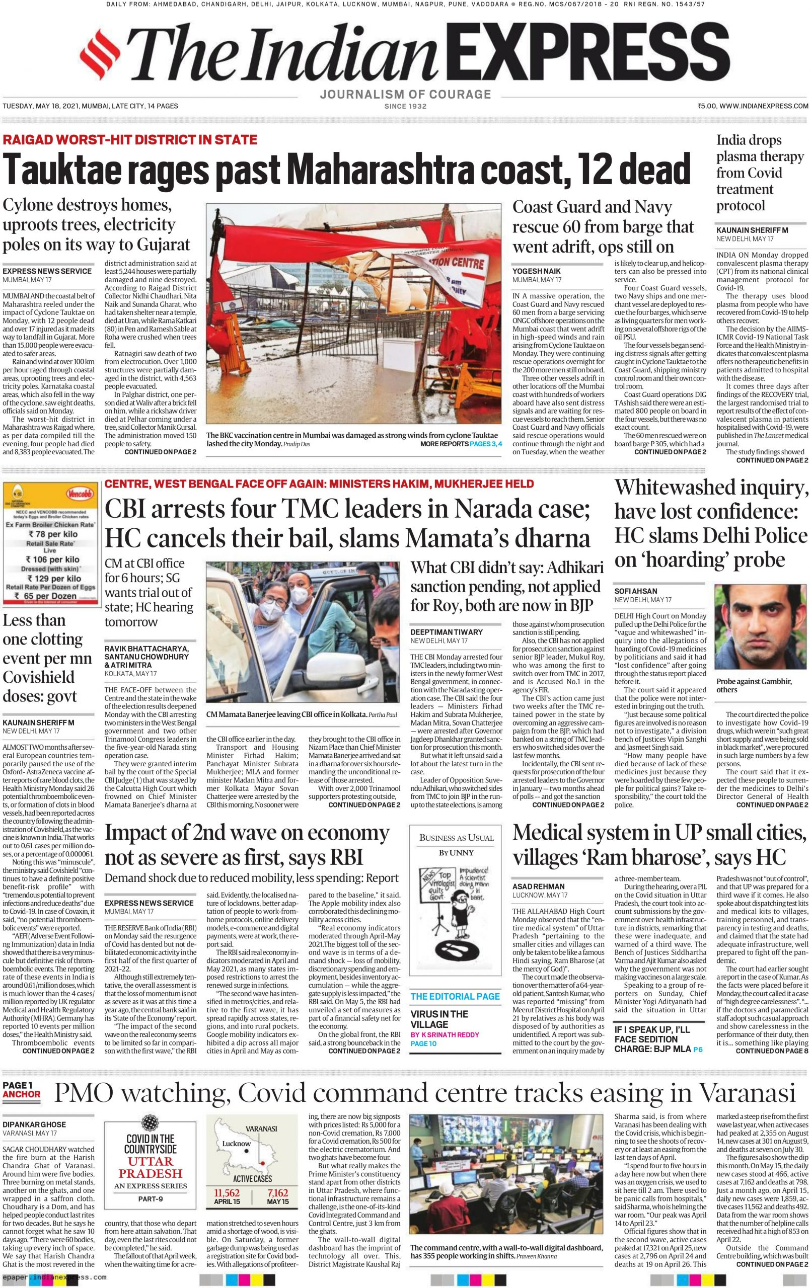 The Indian Express 18th May 2021