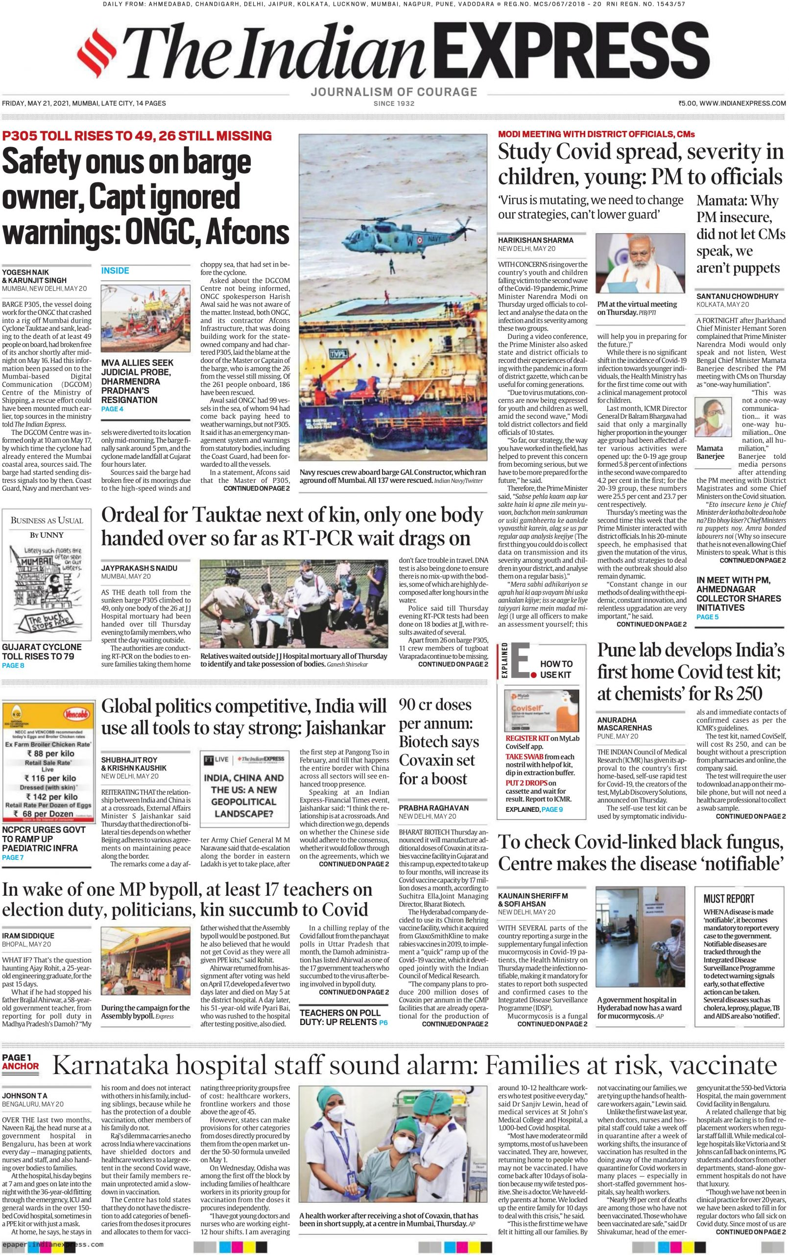 The Indian Express 21st May 2021