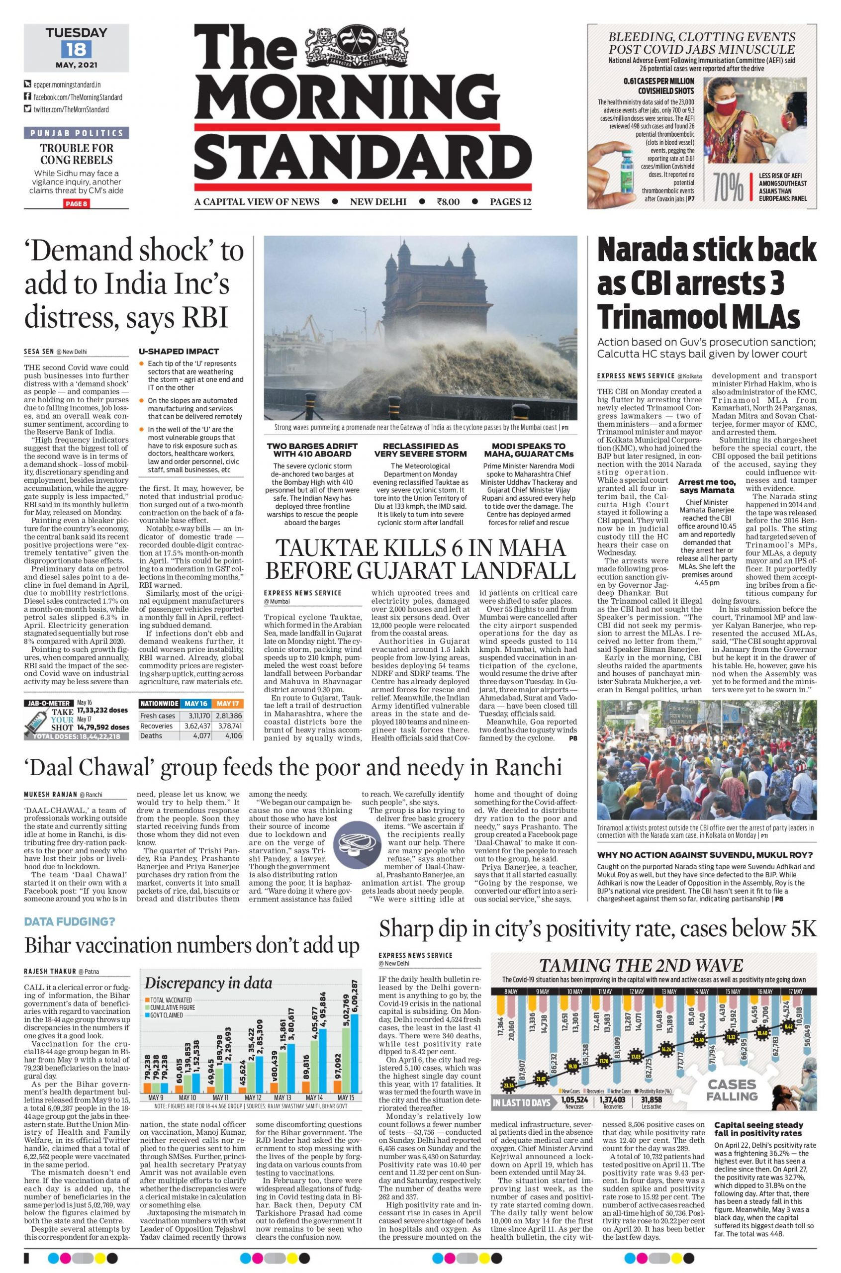 The Morning Standard 18th May 2021