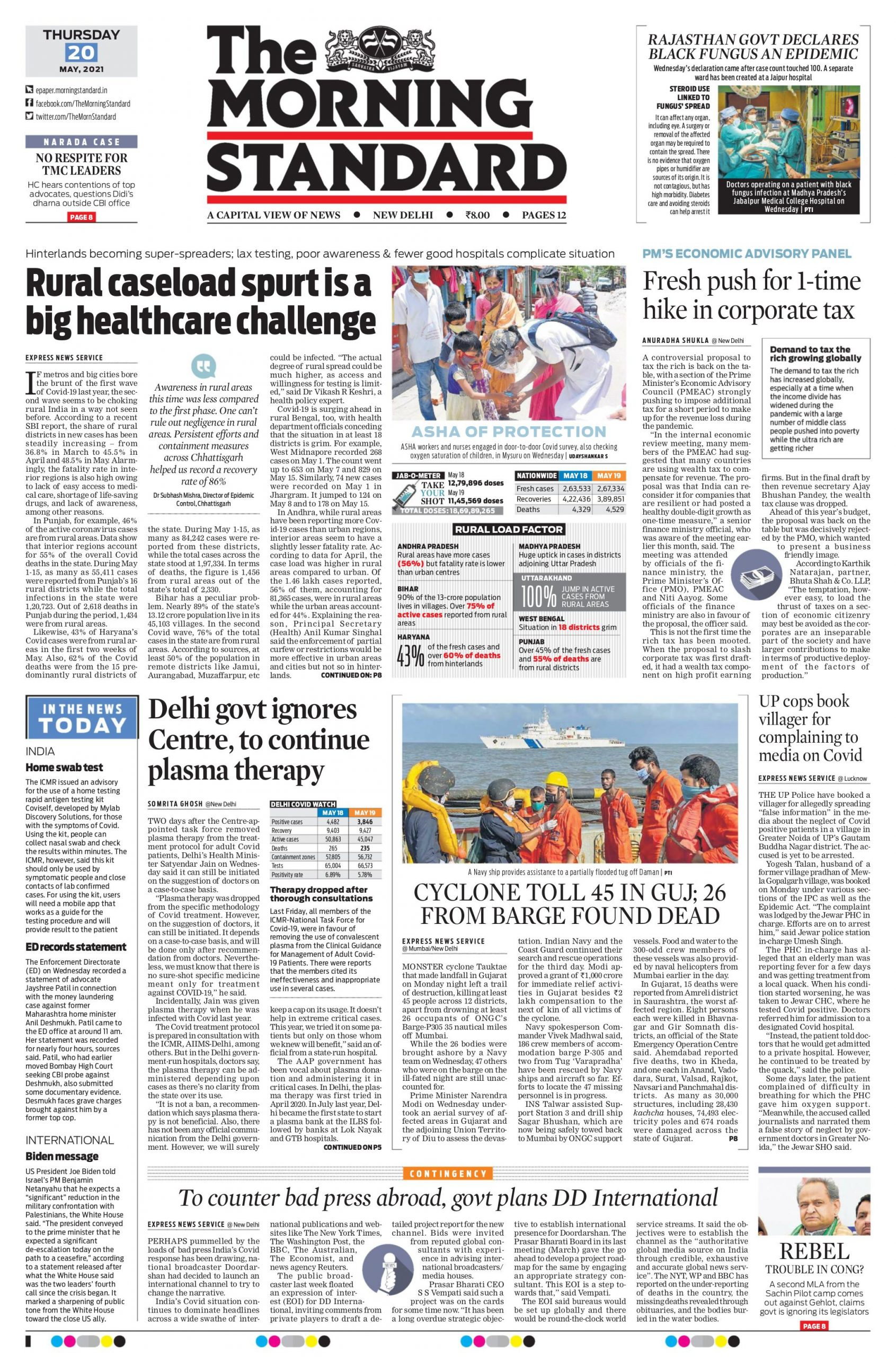 The Morning Standard 20th May 2021