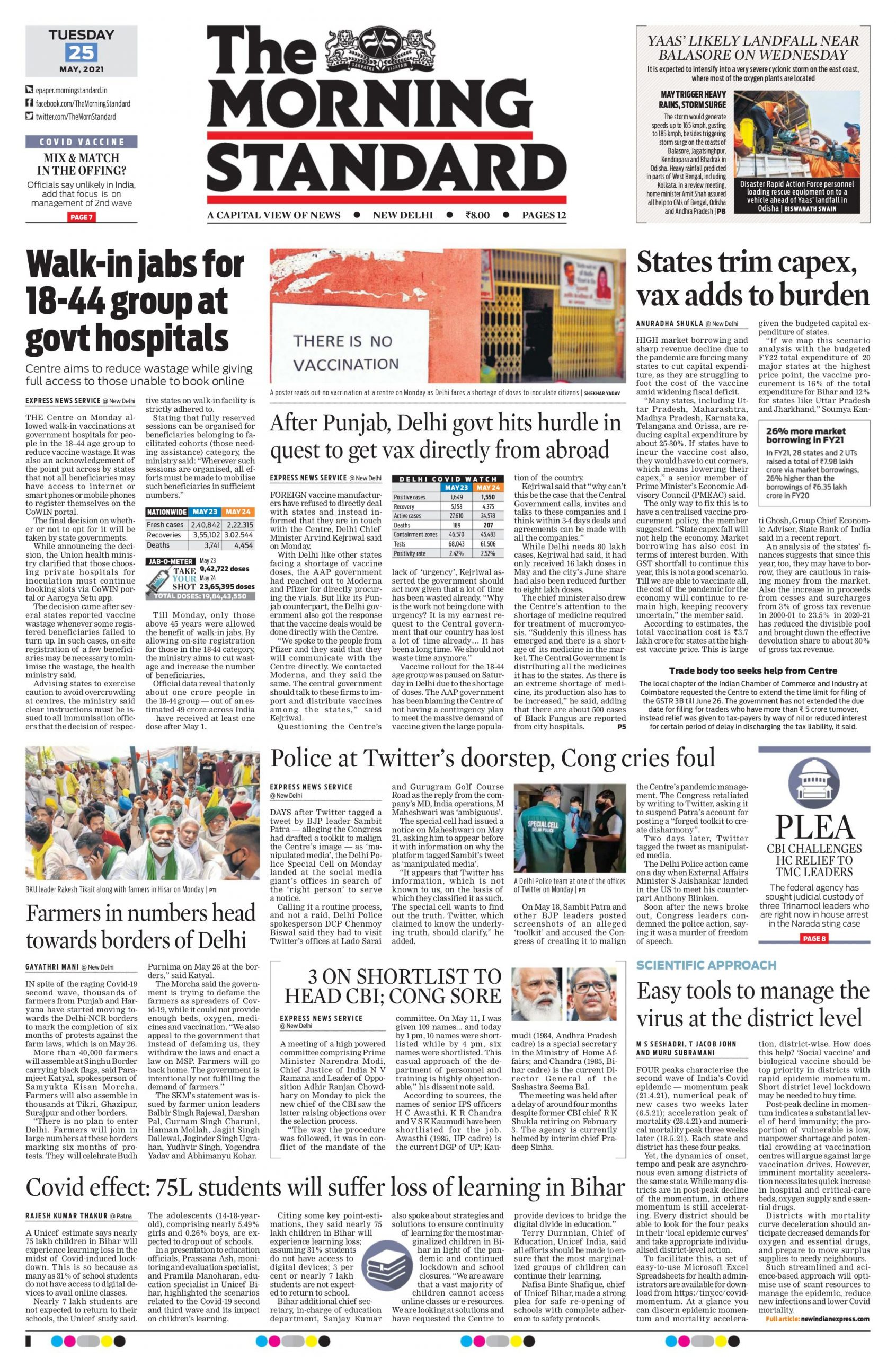 The Morning Standard 25th May 2021