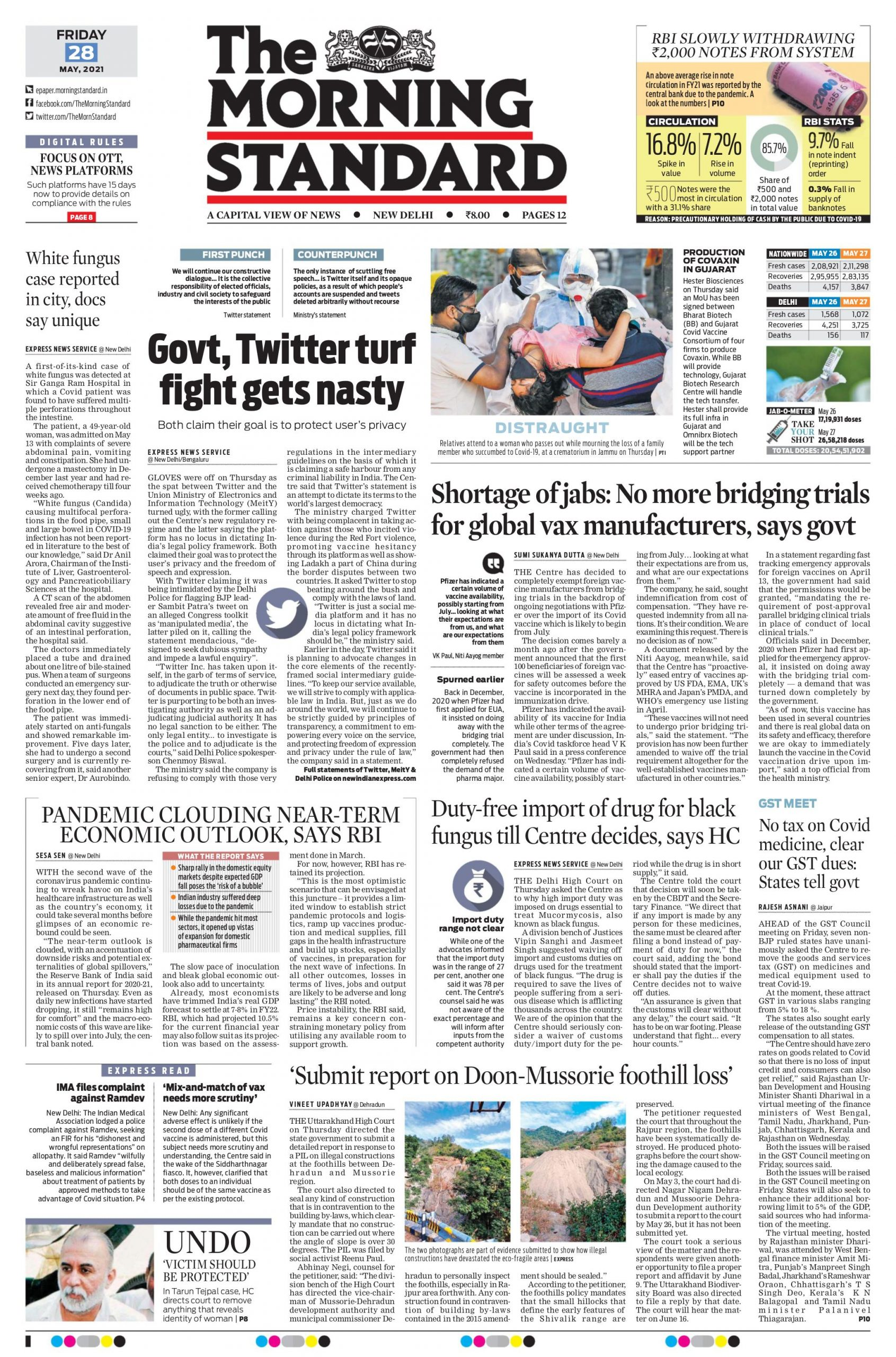 The Morning Standard 28th May 2021