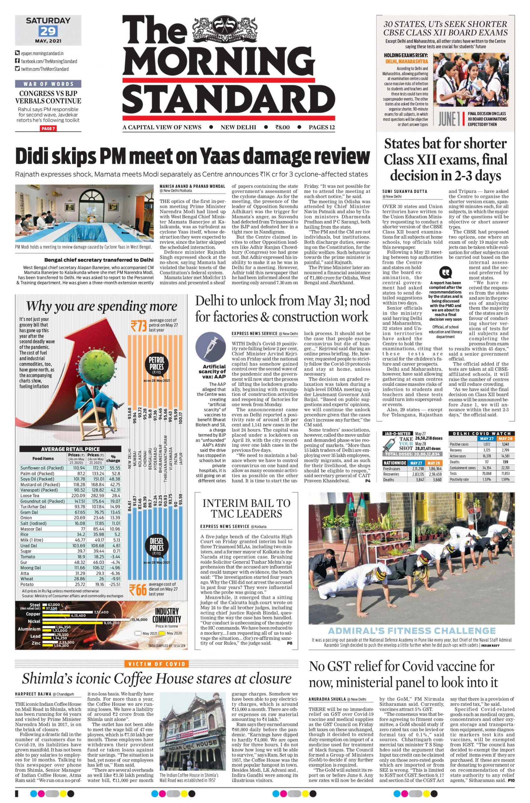 The Morning Standard 29th May 2021