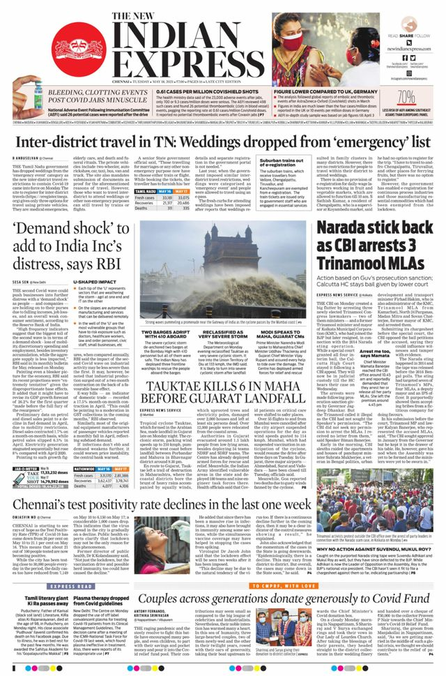 The New Indian Express 18th May 2021