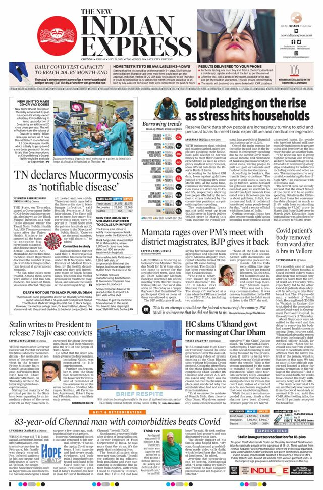 The New Indian Express 21st May 2021