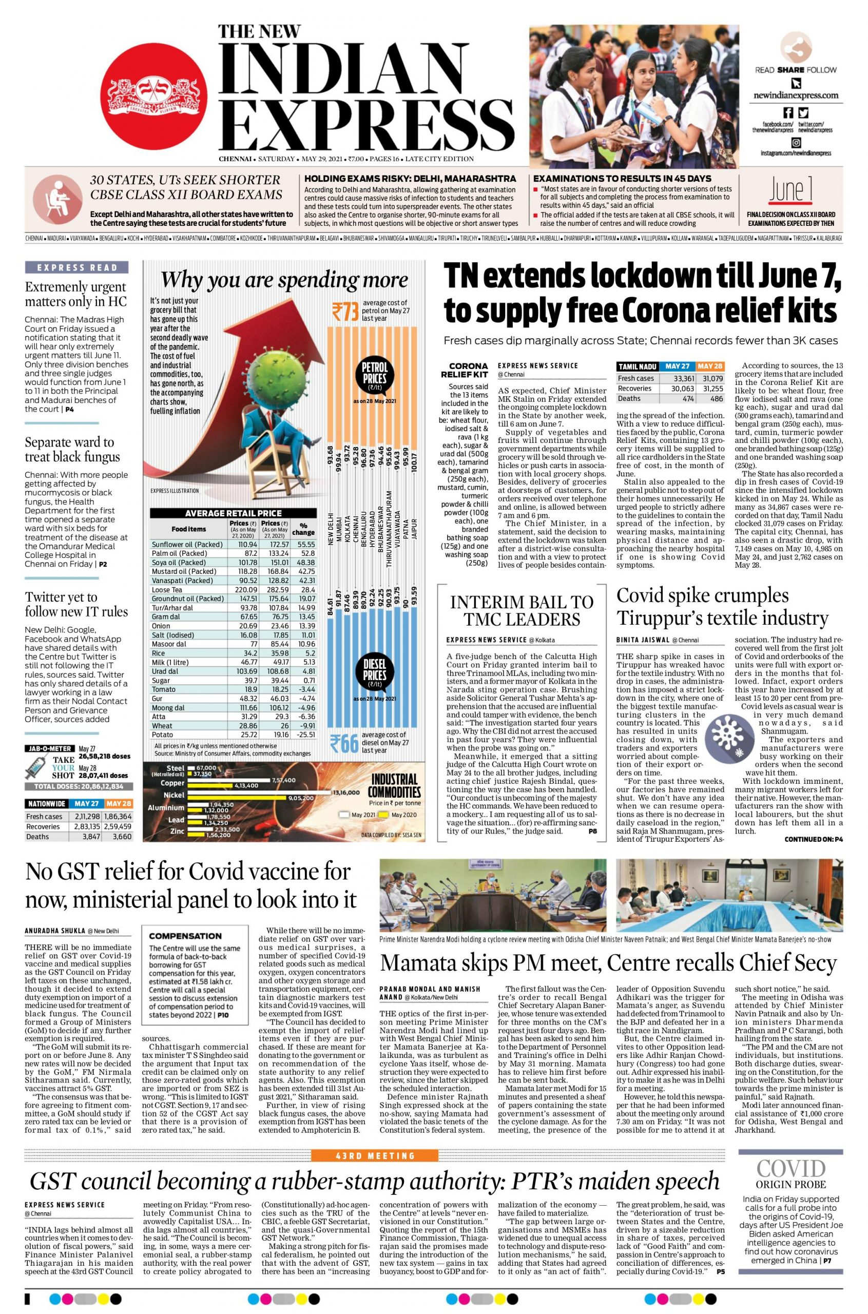 The New Indian Express 29th May 2021