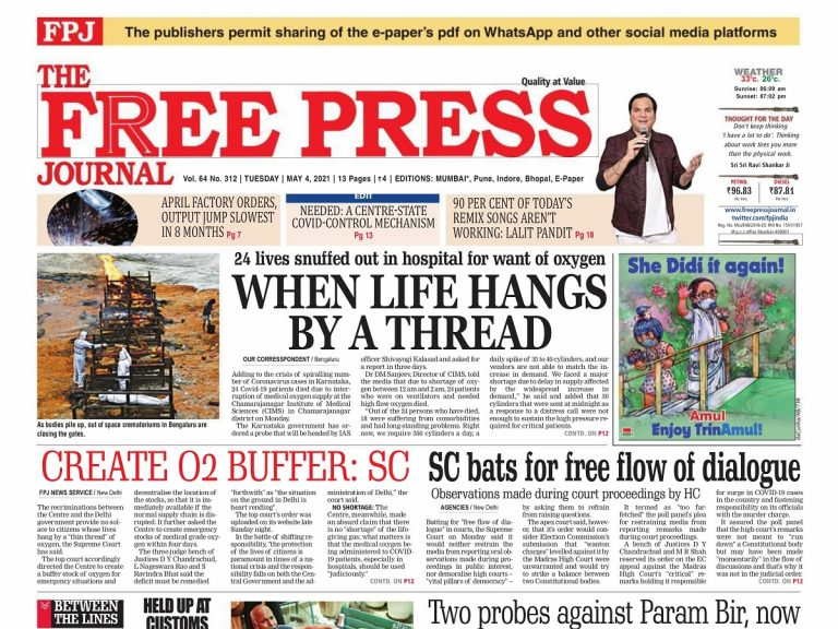 Today's Front Pages – May 4