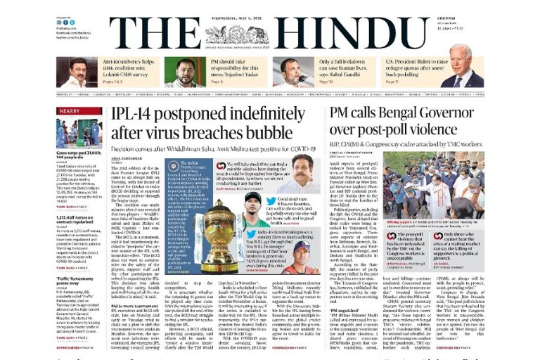 Today's Front Pages – May 5
