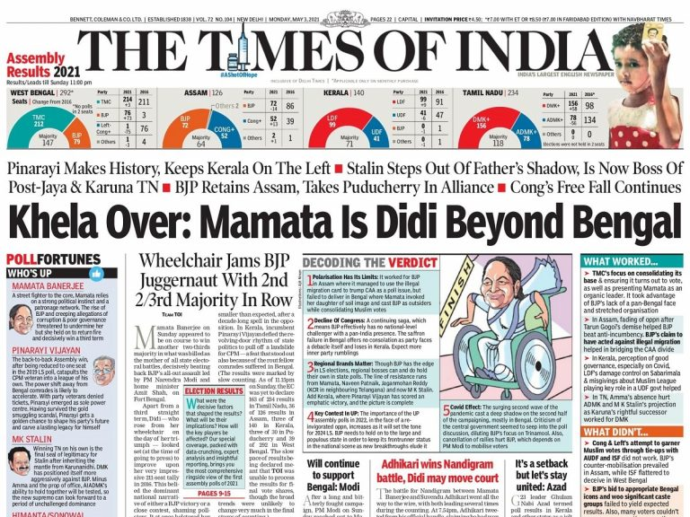 Today's Front Pages – May 3