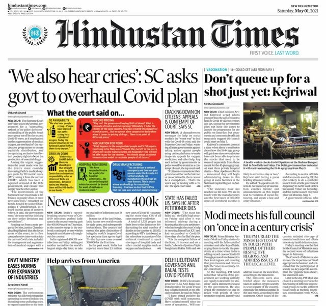 Today's Front Pages – May 1