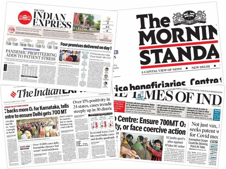 Today's Front Pages – May 8