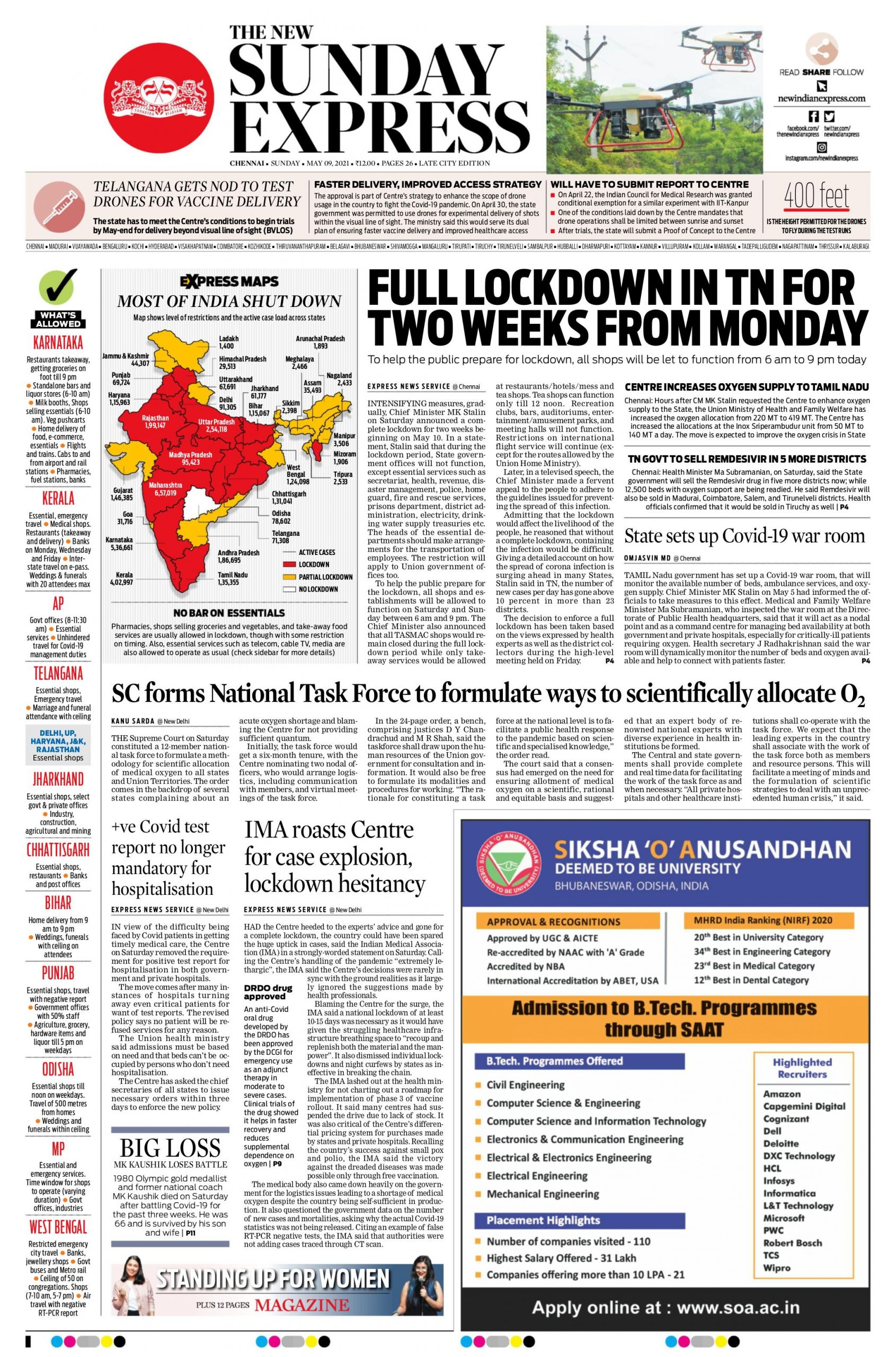 The New Indian Express 9th May 2021