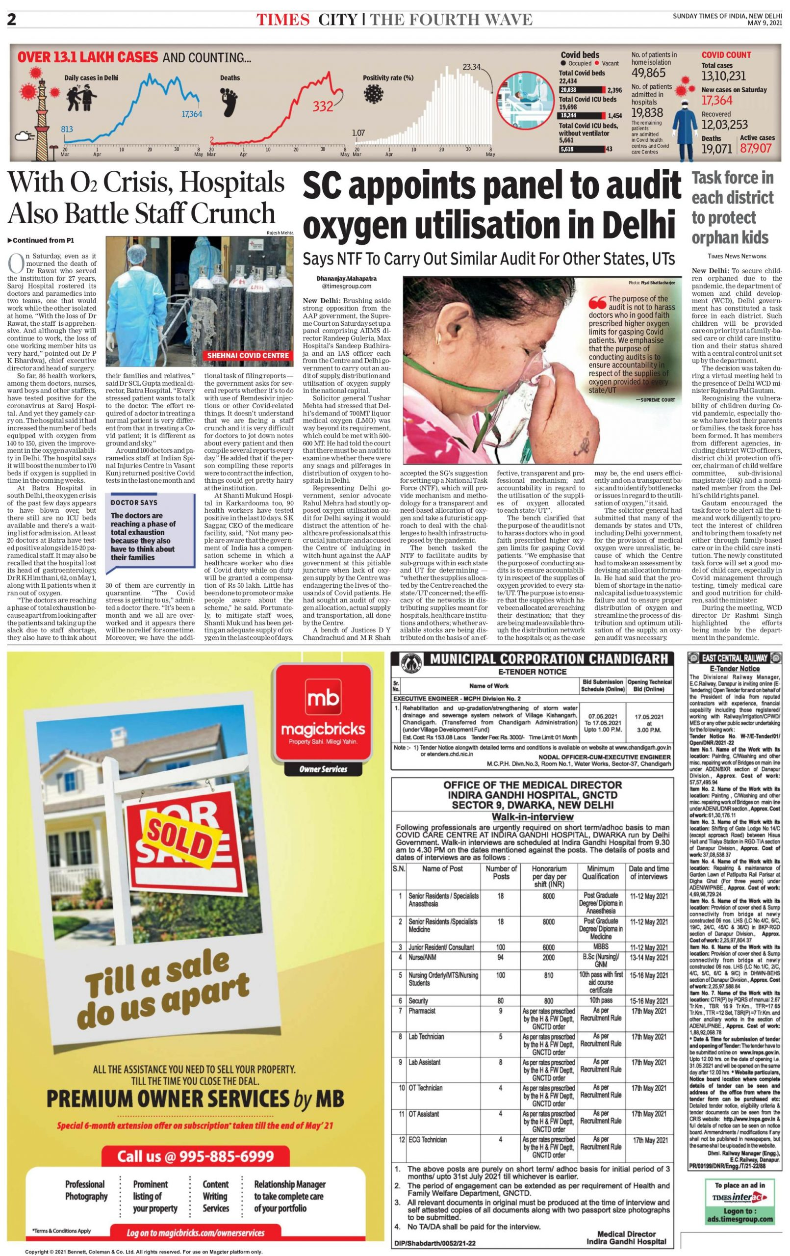 Times of India 9th May 2021