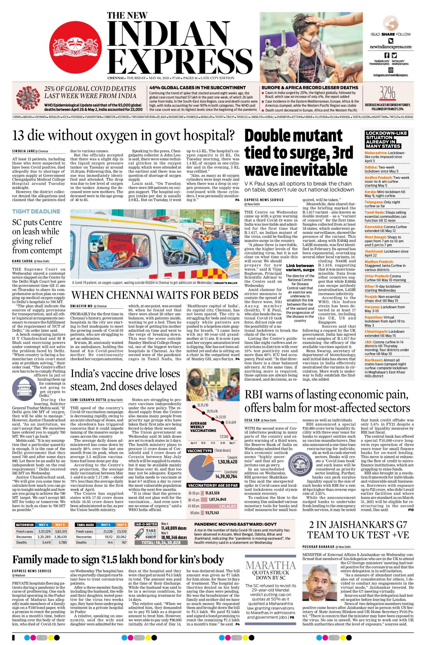 The New Indian Express 6th May 2021