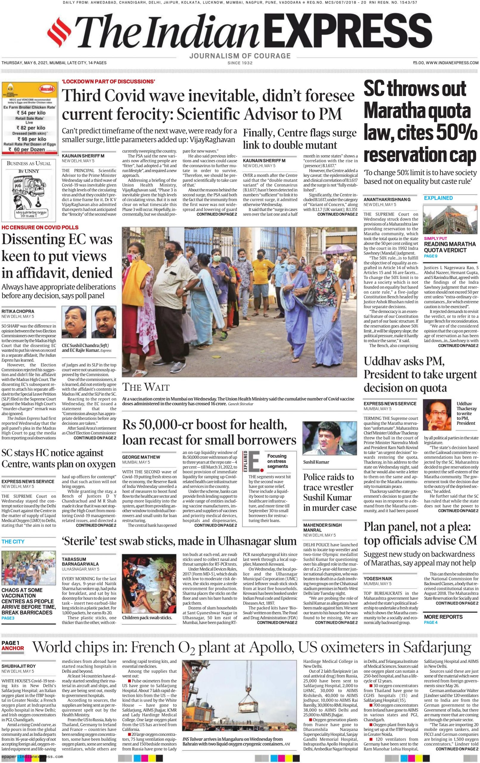 The Indian Express 6th May 2021