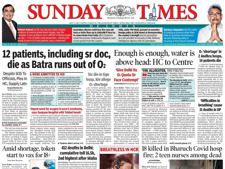 Today's Front Pages – May 2