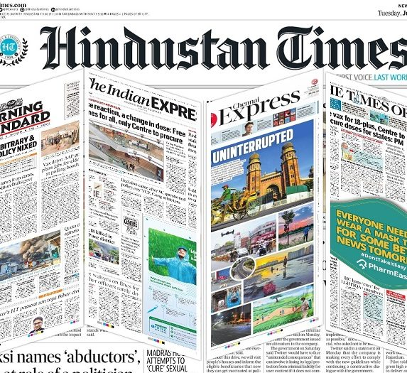 Newspaper front pages 8th June 2021