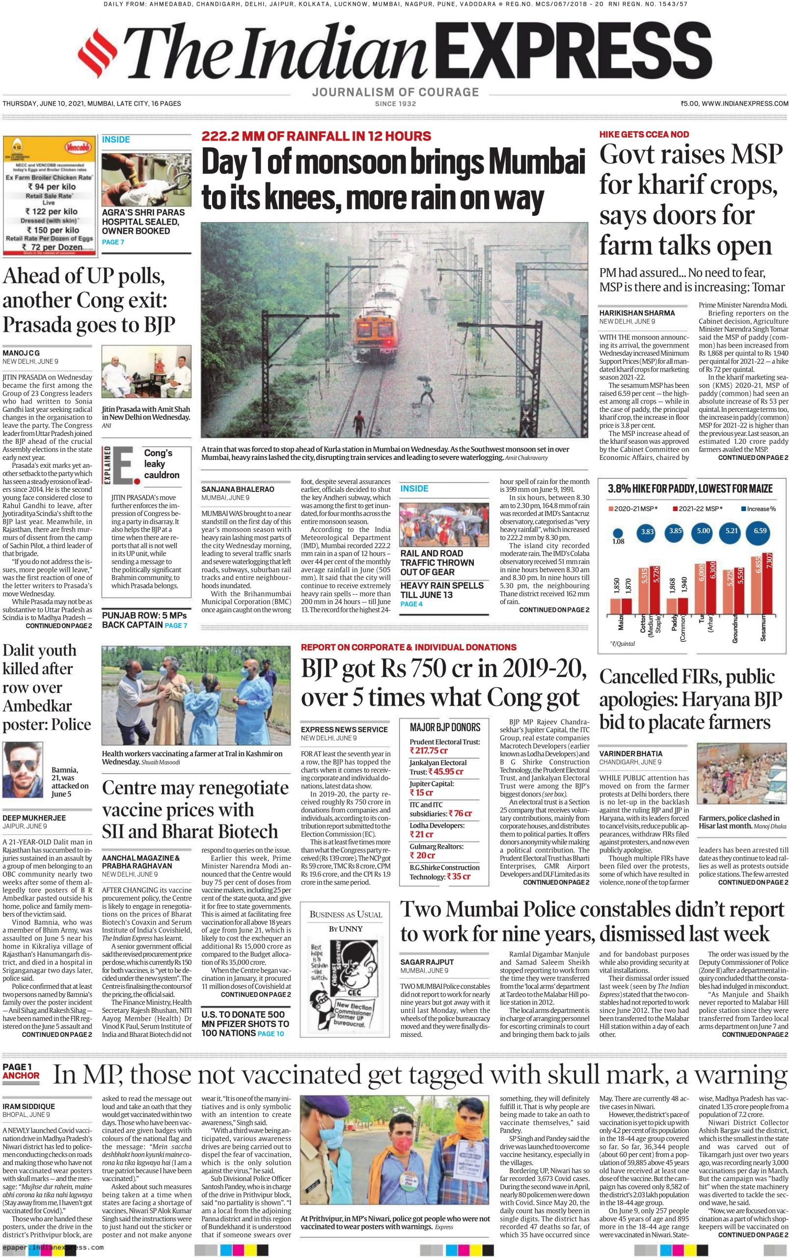 The Indian Express 10th June 2021