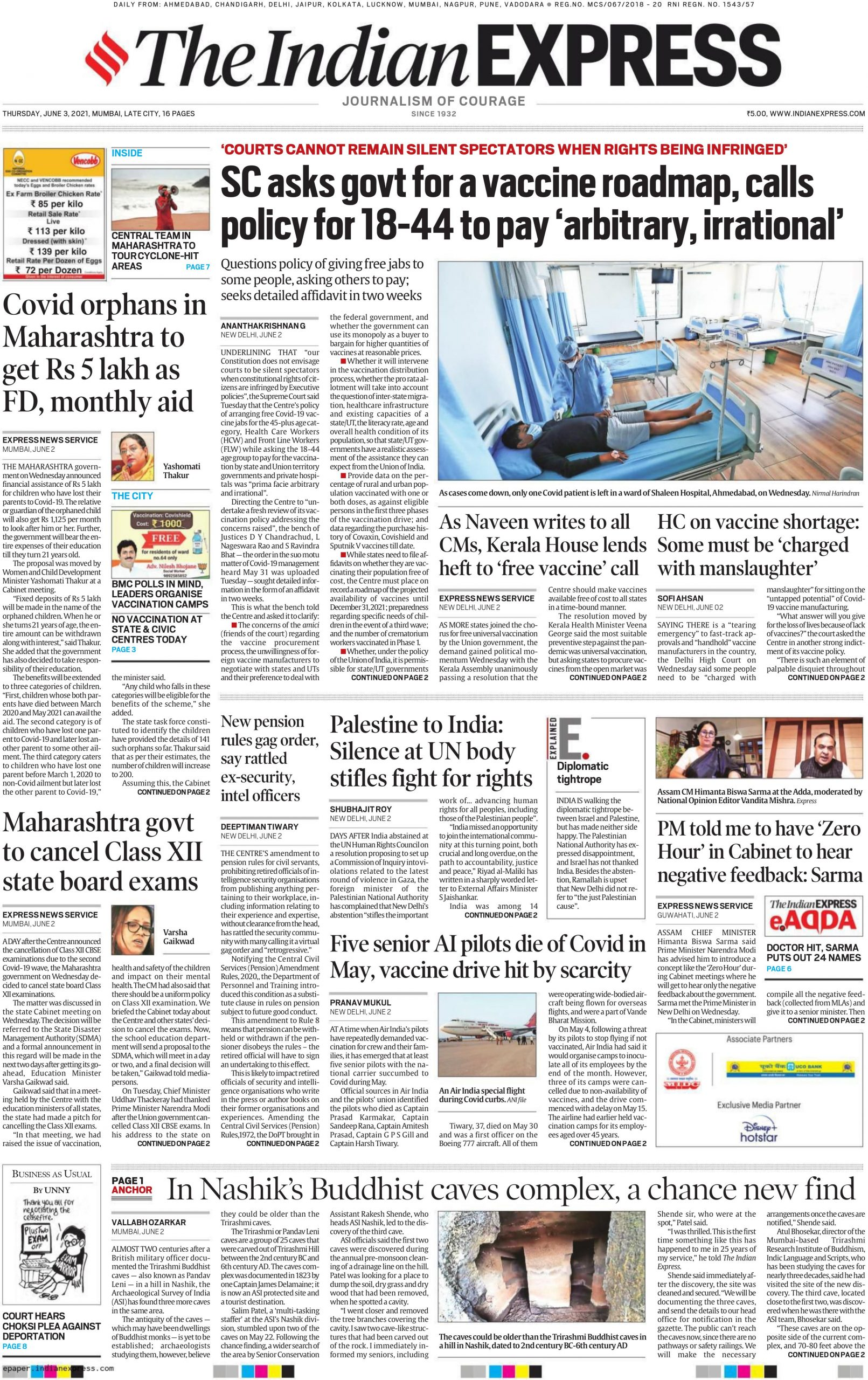 The Indian Express 3rd June 2021