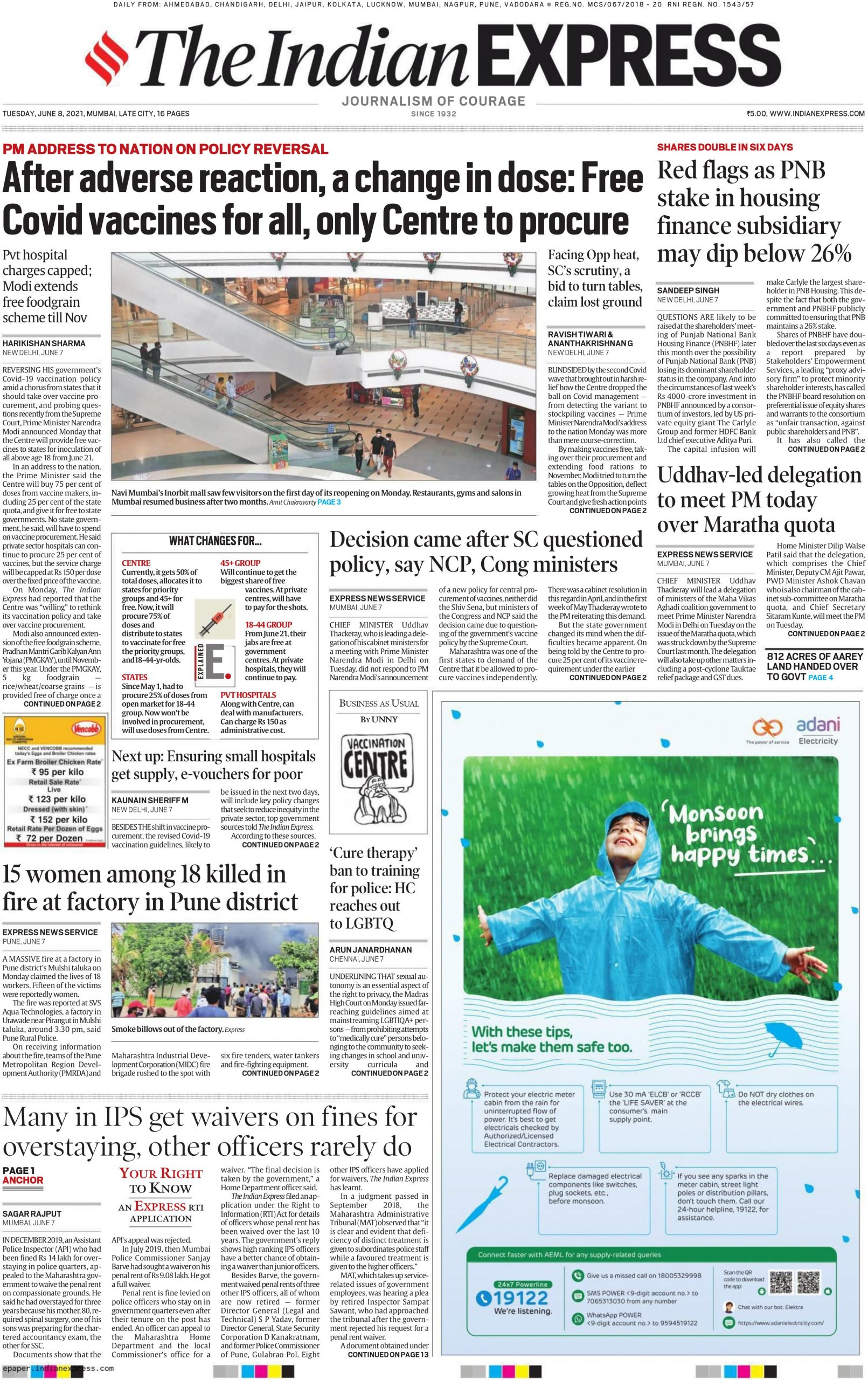 The Indian Express 8th June 2021
