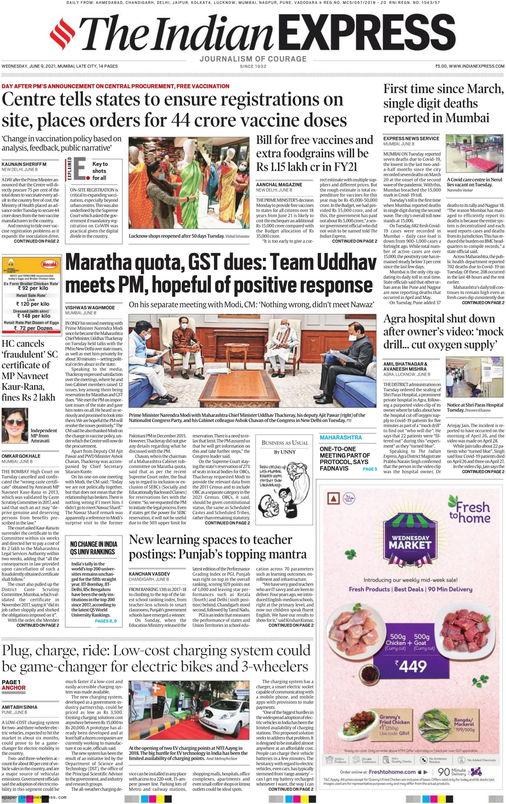 The Indian Express 9th June 2021