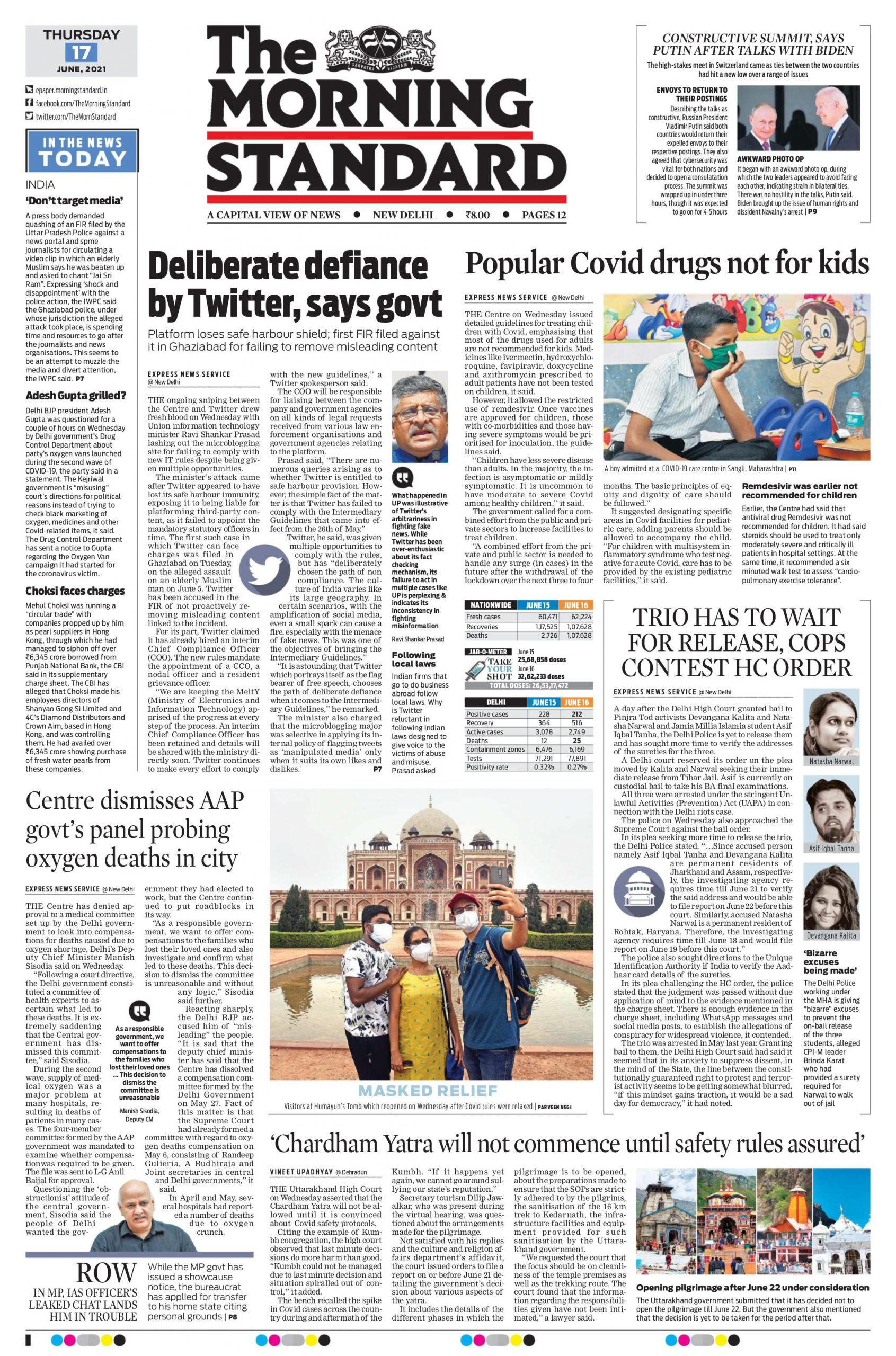 The Morning Standard 17th June 2021
