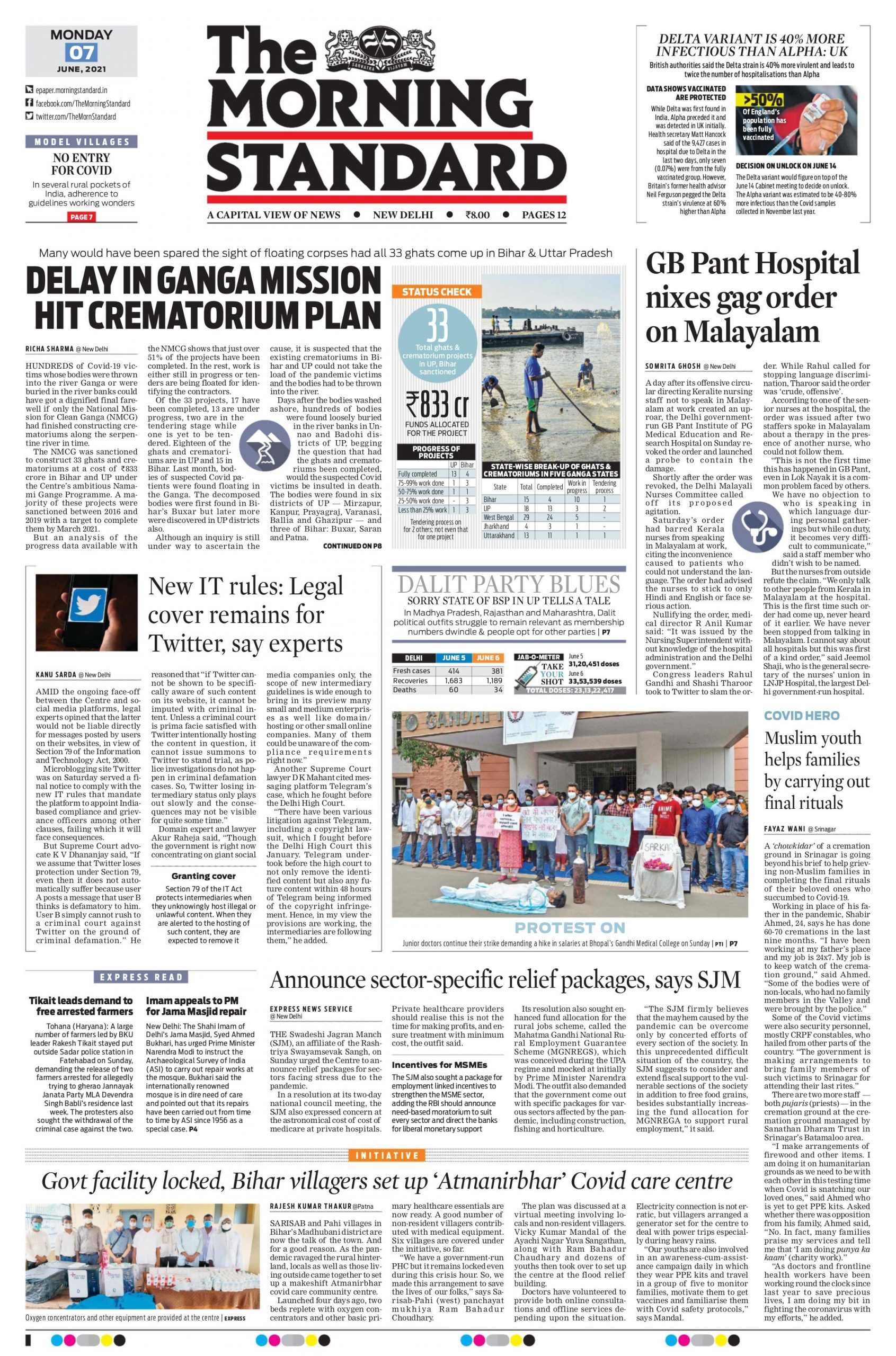 The Morning Standard 7th June 2021