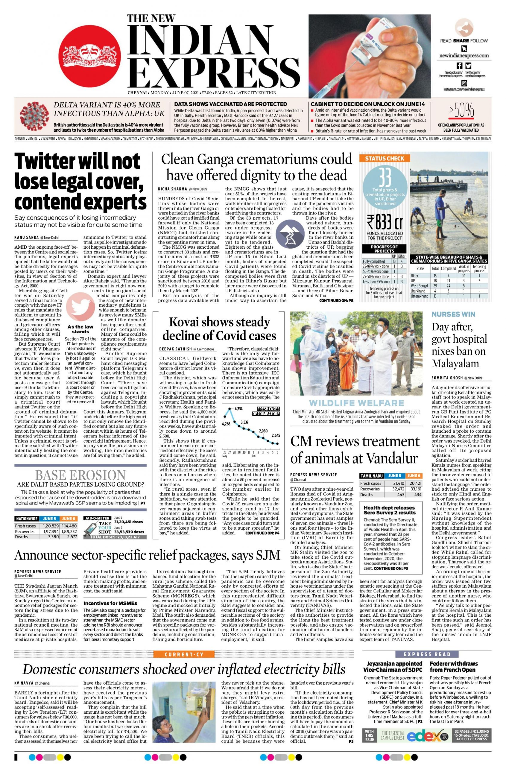 The New Indian Express 7th June 2021