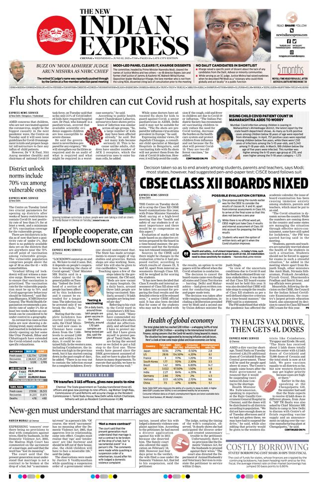 The New indian express 2nd june 2021