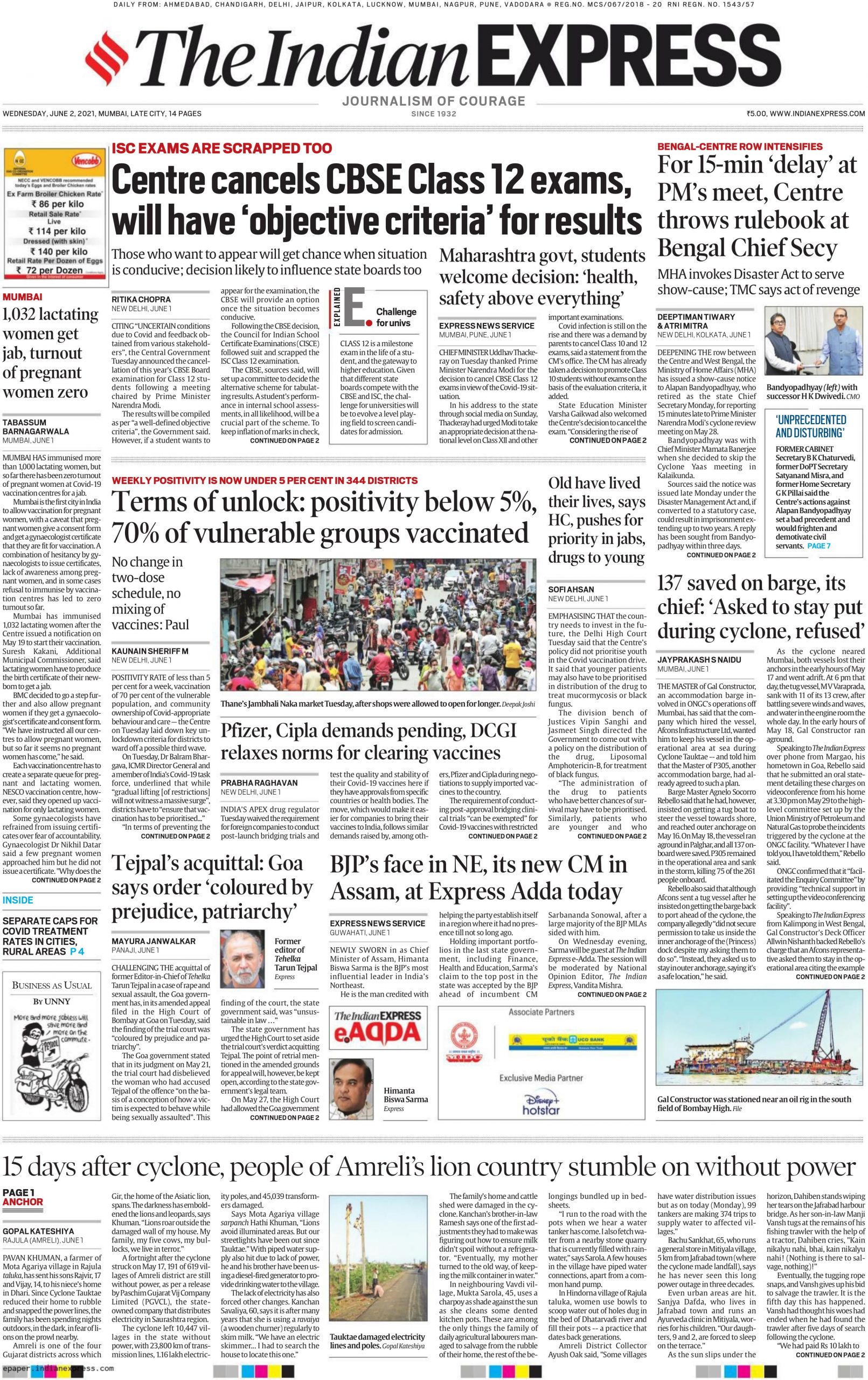 The indian express 2nd june 2021