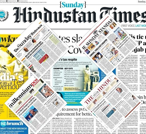 newspaper front pages 13th June 2021