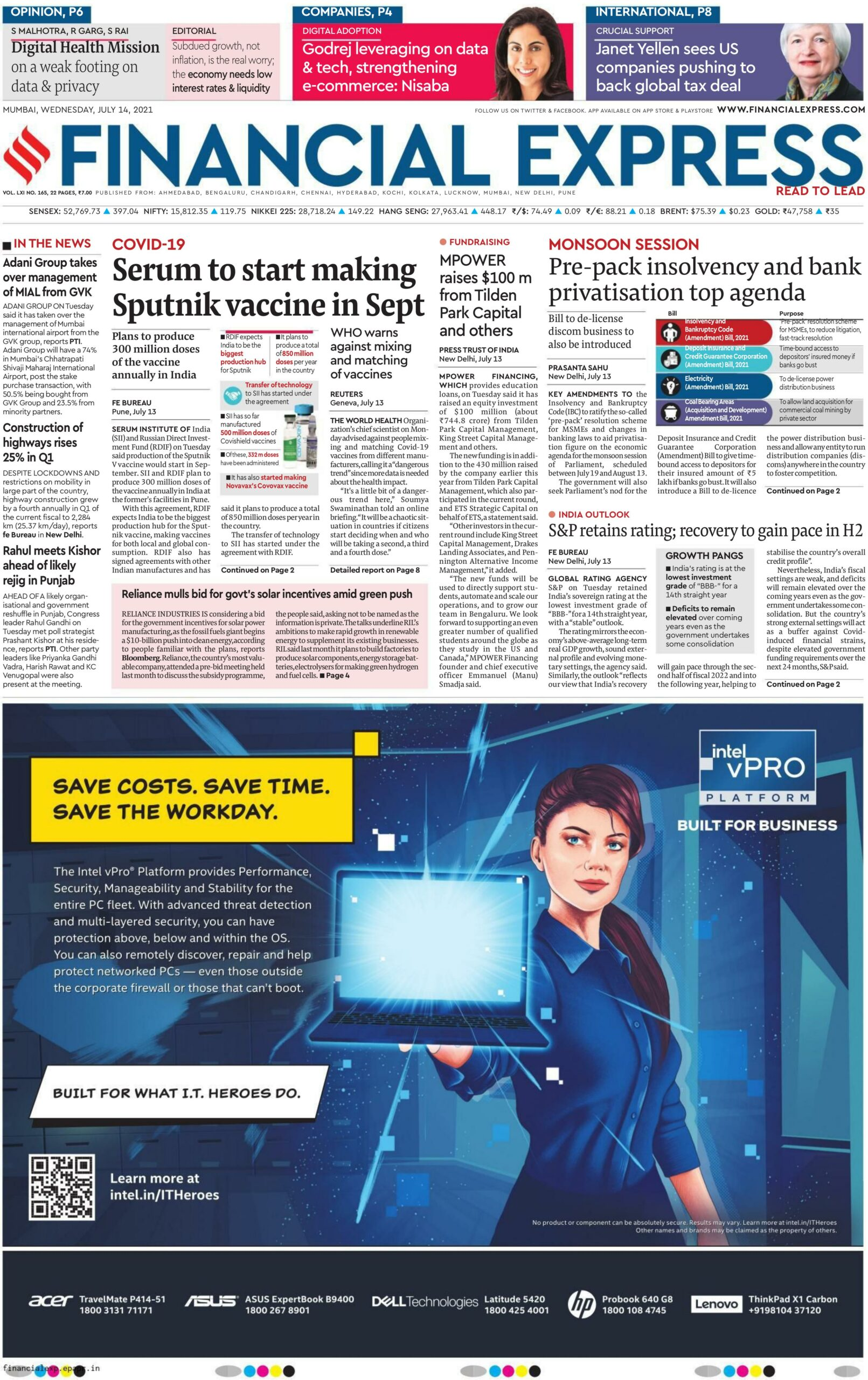 Financial Express 14th July 2021