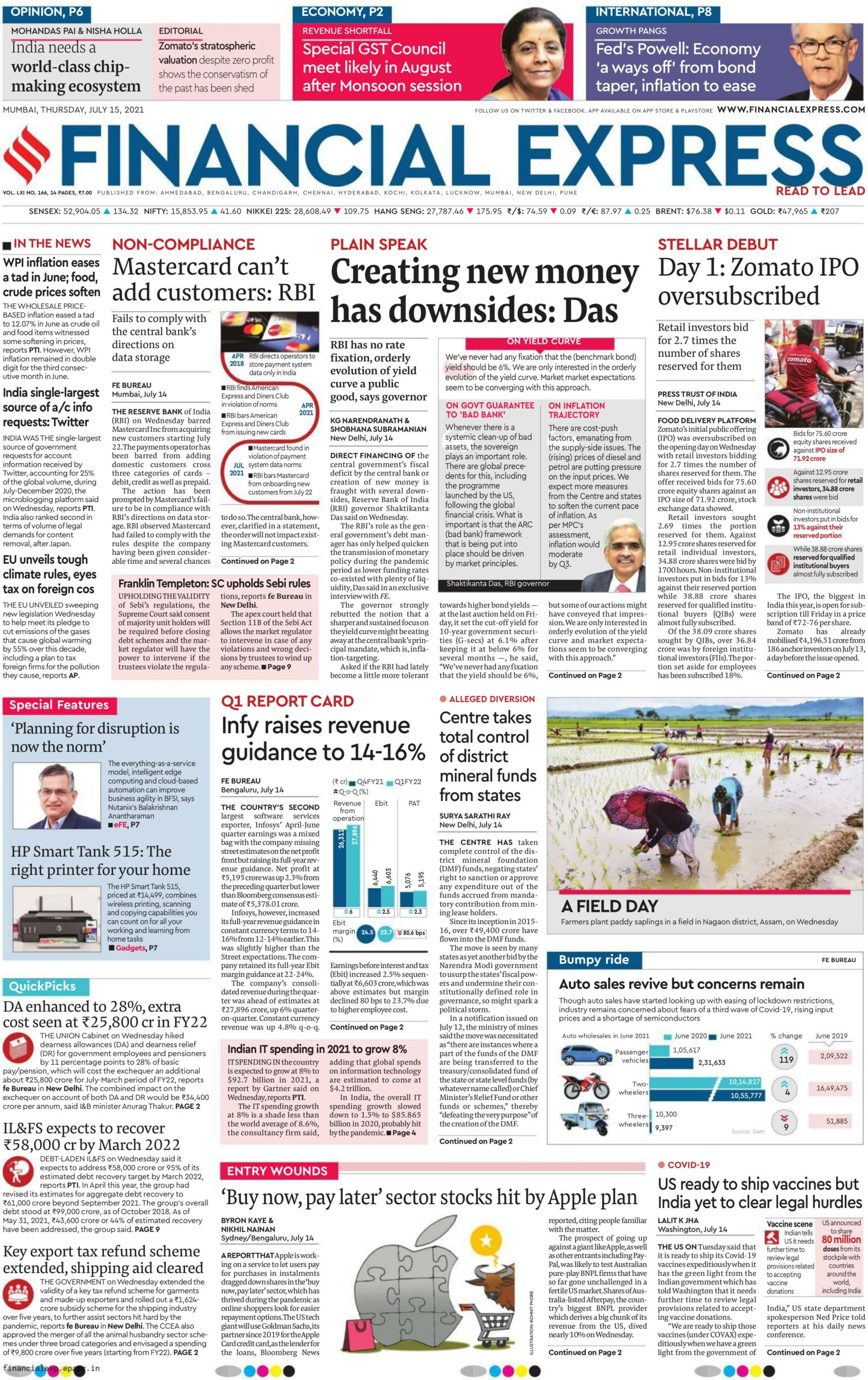 Financial Express 15th July 2021