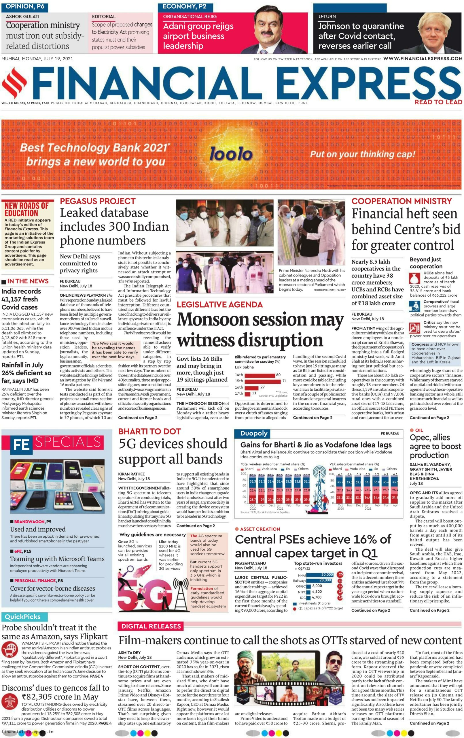Financial Express 19th July 2021