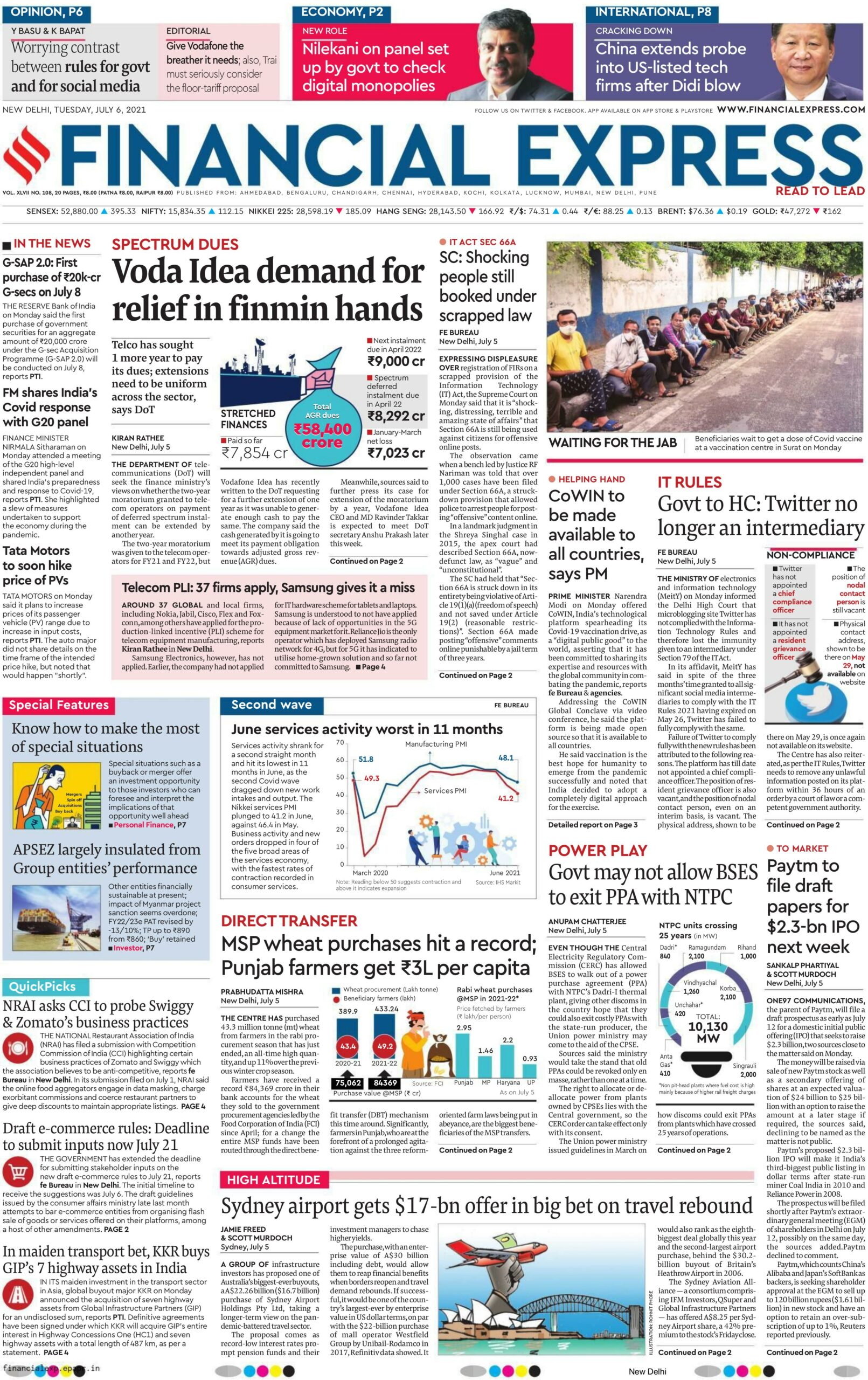 Financial Express 6th July 2021