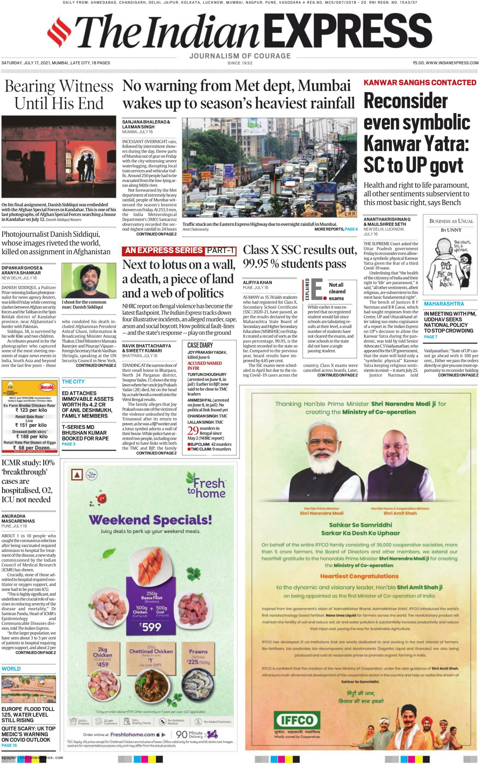 The Indian Express 17th July 2021