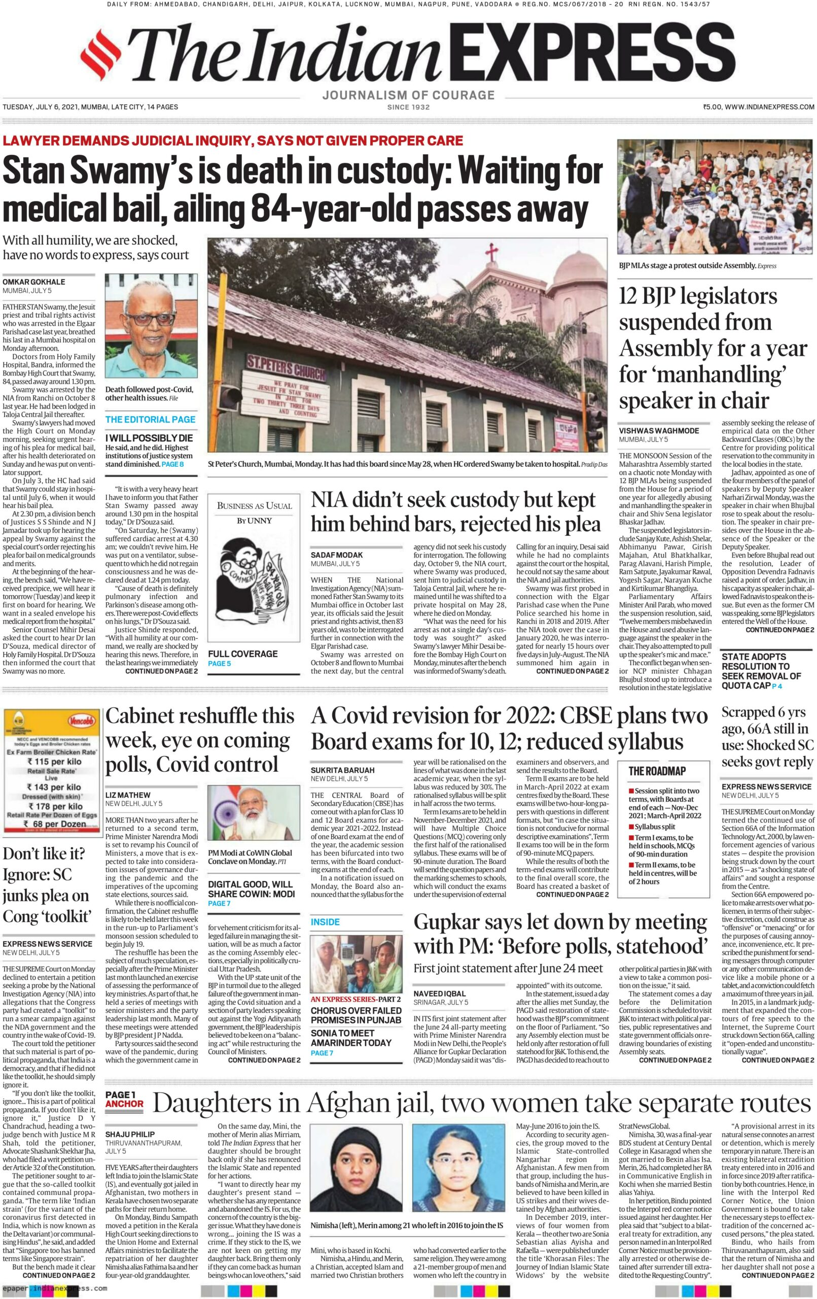The Indian Express 6th July 2021