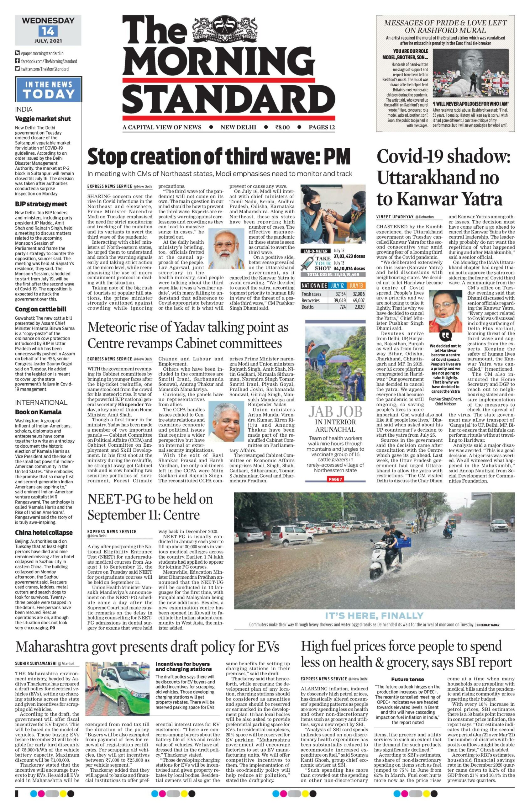 The Morning Standard 14th July 2021
