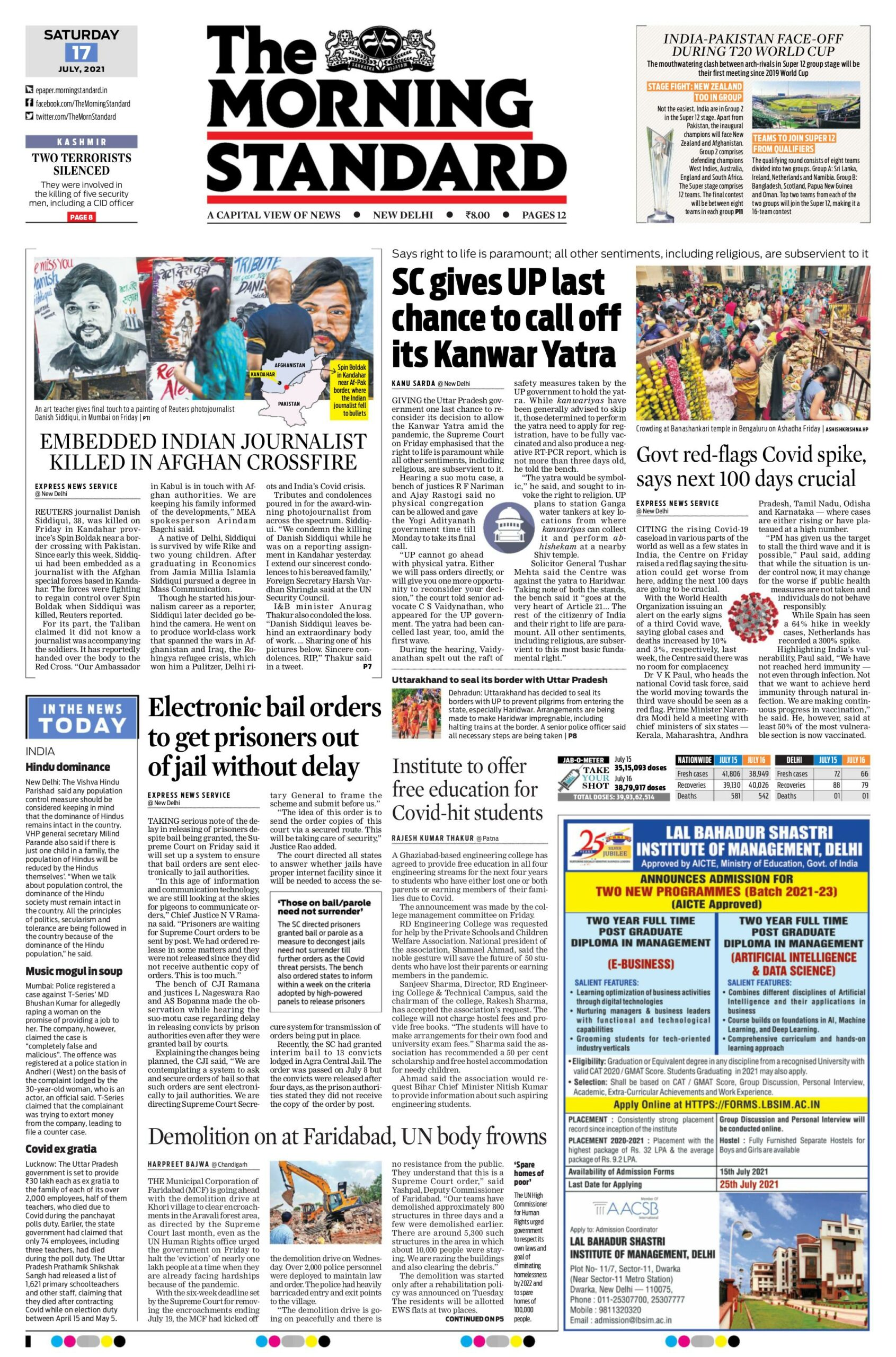 The Morning Standard 17th July 2021
